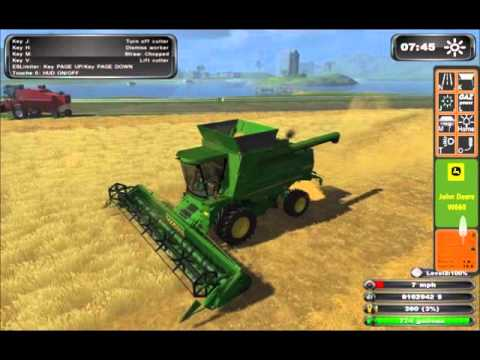Part 1-Farming simulator 2011 hire work on hill CP12+T660