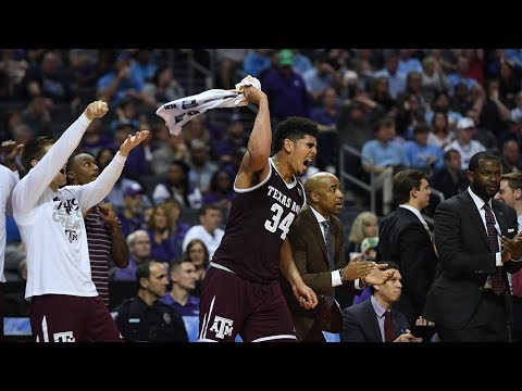 Texas A&M vs. North Carolina: Aggies upset the defending champs to advance to the Sweet 16 (видео)