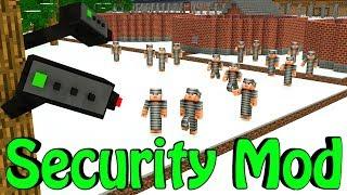 Minecraft | Base Defense Mod Showcase! (House Security, Security Camera's, Robots)