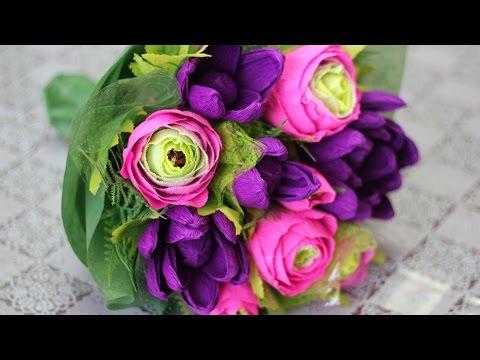 Букеты цветов своими руками мастер класс фото