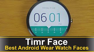 Timr is a free watch face for android wear that follows a simple and minimalistic design with tons of color combinations to choose from.Download: https://play.google.com/store/apps/details?id=com.timrface