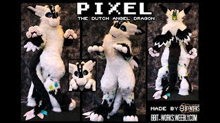 This is Pixel the dutch angel dragon! This is a personal suit made by 8Bit-works, he belongs to Eight. Yes, he chirps! He makes ...
