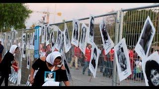 Homenaje a víctimas de dictadura argentina, antes del partido contra Chile jugado en el Estadio Nacional el 24 de marzo de 2016.