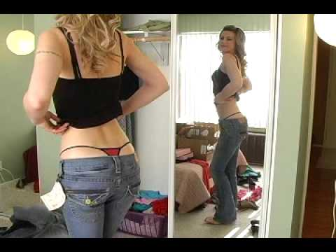jeans - Some girls will do anything for a great pair of jeans...