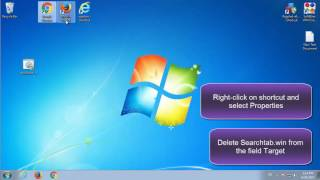 This video is an instruction how to remove Searchtab.win from the computer and browsers: Mozilla Firefox, Internet Explorer and Google Chrome manually. Automatic Searchtab.win Removal Tool: http://pcfixhelp.net/removal-tool (SpyHunter deletes this virus and protects computer from others)What is Searchtab.winSearchtab.win is a browser hijacker. It changes browser new tab page, default search engine and homepage. Usually, the hijacker infects browsers using free software downloads. It shows advertisement in the browser and PC desktop. If you cannot uninstall the Searchtab.win redirect, follow this easy tutorial. Searchtab.win Removal guide 1. Uninstall Searchtab and other unknown programs (that were added recently) from Control Panel 2. Check the browser shortcut3. Remove Searchtab.win from browser or reset the browser settingsInternet Explorer: Tools - Internet Options - Homepage - Remove Searchtab.win and put 'about:blank';Google Chrome: Customize and Control Google Chrome - Settings - On startup - Open a specific page - Remove Searchtab.win and put 'about:blank';Mozilla Firefox: Tools - Options - General - Homepage - Remove Searchtab.win and put 'about:blank'4. Restart PC