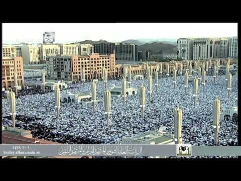صلاة عيد الفطر المسجد النبوي 01-10-1438هـ