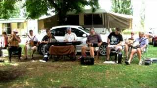 A session at the Colac-Colac Caravan Park. Musos: Julie Johnson (Piano Accordion) David Hornett (Mouth Organ) Mike Giblim (Button Accordion) Hector Awol (But...