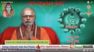 Weekly Rasi Phalalu 2017 June 11th June 17th 2017