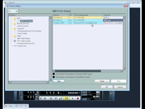 Cubase 5 Video Tutorial – Setting up your MIDI devices to work with Cubase
