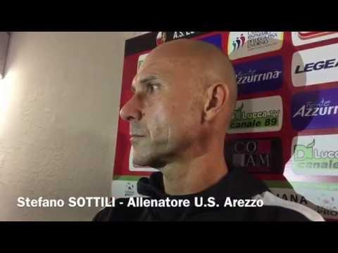 Lucchese-Arezzo 2-2, interviste in sala stampa