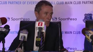 Everton CEO Robert Elstone and former midfielder Leon Osman speak to the media in the East African country about the Club's new main sponsor and the upcoming pre-season friendly at the national stadium.