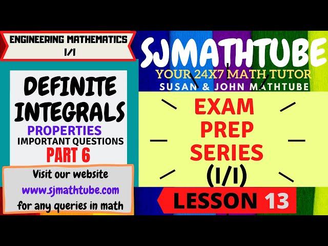 13 - Definite Integrals Properties Problems (6)