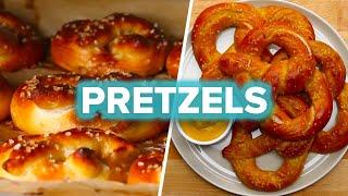 Homemade Pretzels 4 Ways by Tasty