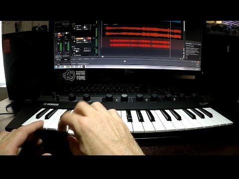 Creating a Bass Line   Yamaha Reface CP mini Keyboard Synthesizer   Improvisation