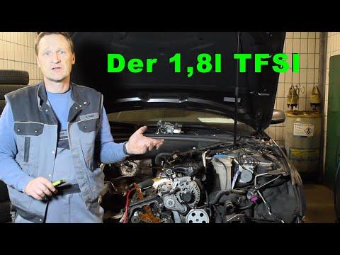Der 1,8 l TFSI Motor von innen. Steuerkette, Wasserpumpe, Ventile und Motorschaden. (Motor CDHB)