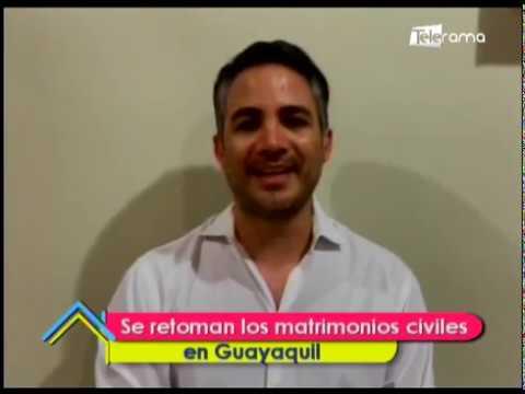 Se retoman los matrimonios civiles en Guayaquil