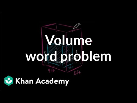 Volume Word Problem Water Tank Video Khan Academy