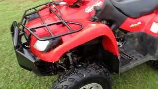 3. Suzuki Vinson 500 4x4, last year for the geat drive, no belts, one owner