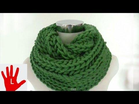 Stricken – Linkshänder – Schal im Patentmuster aus hatnut cool