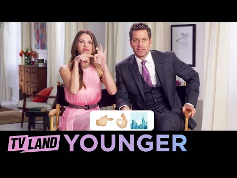 Movie Emoji Game 🎥 w/ the Cast of Younger | (Season 5) | TV Land