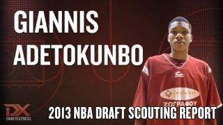 Giannis Antetokounmpo (Giannis Adetokunbo) 2013 NBA Draft Scouting Report Video