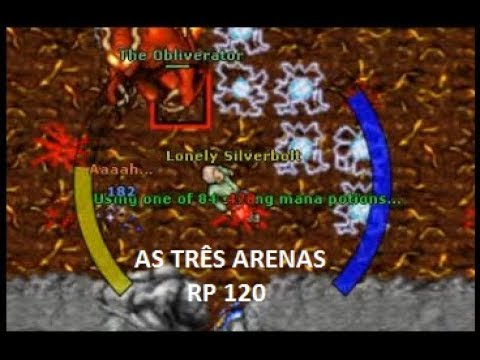 Tibia – Arena de Svargrond, as 3 Dificuldades (RP 120 Amera)