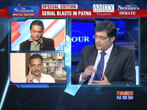 blasts - In a debate moderated by TIMES NOW's Editor-in-Chief Arnab Goswami, panelists -- Sanjay Jha, Spokesperson, Congress; Rajiv Pratap Rudy, Gen Secy & MP, RS, BJ...