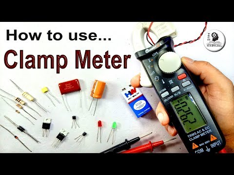 How to Use Clamp Meter to measure Voltage Amps Frequency Resistance Capacitance Temperature