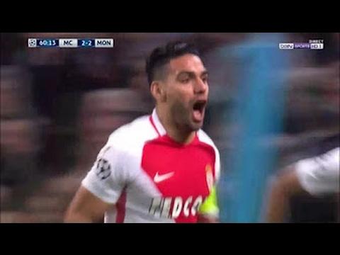 Falcao Amazing Goal - Manchester city vs Monaco 2-3 - UCL - 21-02-2017 HD