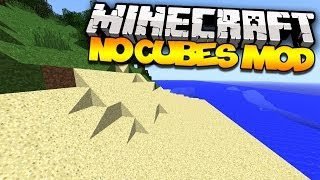 Minecraft: NO CUBES (Smooth Terrain!)   Mod Showcase
