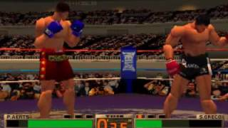 K-1 The Arena Fighters PS1 Peter Aerts vs Sam Greco - K1 PLAYSTATION GAME