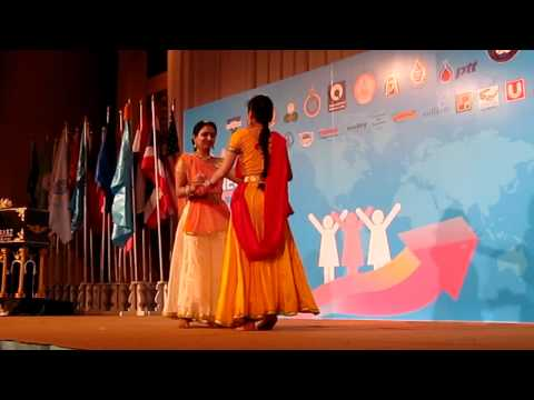 Indian dance by Thai student & Indian Teacher