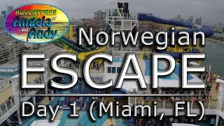 Flå Norway  city images : Norwegian ESCAPE Caribbean Cruise (Day 1 - Miami, Florida)