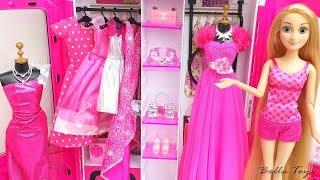 💜Barbie Rapunzel Elsa Frozen💜Princess dollhouse bedroom decor💜Doll clothes dresses fashion