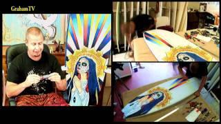 Surfboard Art - Interview with Caspian de Looze - Timelapse sequence