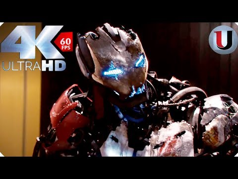 Avengers vs Ultron - First Fight  Avengers Age of Ultron - MOVIE CLIP (4K HD)