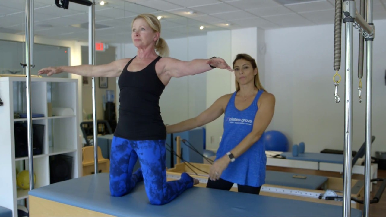 Pilates Exercises: Kneeling Side Kick