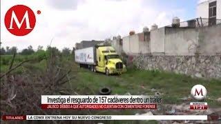 Derechos humanos indaga tráiler con cadáveres en Jalisco