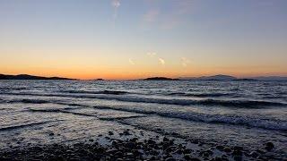 Lantzville beach dusk tide-lapse