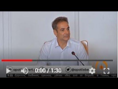Κ.Μητσοτάκης | Δήλωση για τη συμφωνία Ελλάδας – Αιγύπτου | 07/08/2020 | ΕΡΤ