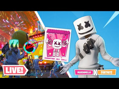 MARSHMELLO LIVE FORTNITE EVENT (FULL 10 MIN GAMEPLAY) - LIVE SET (FORTNITE BATTLE ROYALE)