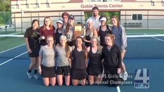 RHS Girls Tennis Sectional Montage 2016