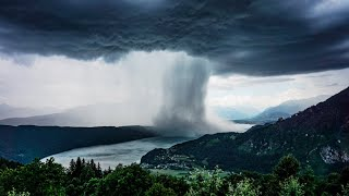 Tsunami from Heaven / Amazing Rainstorm Timelapse / Downburst / Microburst