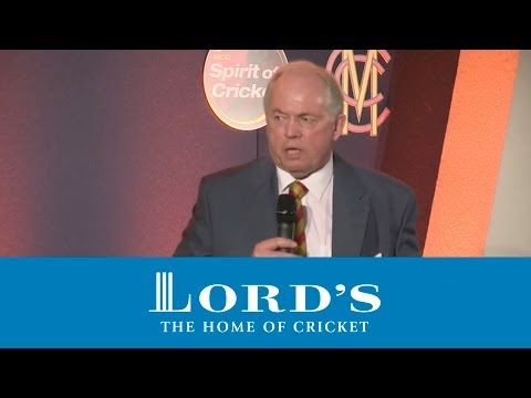 MCC Spirit of Cricket Cowdrey Lecture 2012
