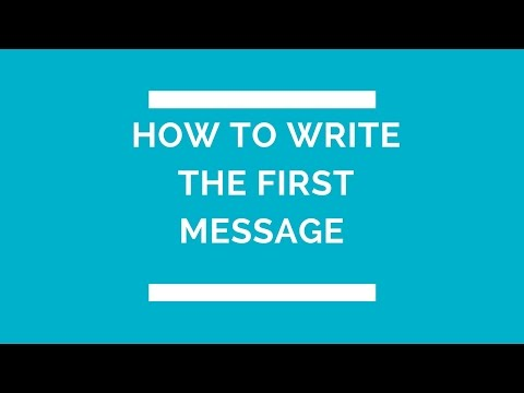 How to write the first message| plenty of fish secrets| online dating tips for men