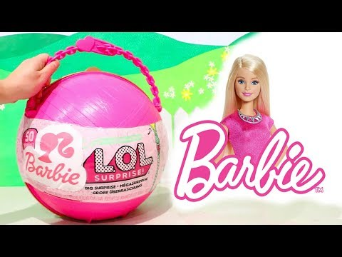 L.O.L. Big Surprise *Customized* With Barbie Surprise Toys and LOL Dolls Accessories (видео)