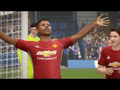 CHELSEA vs MANCHESTER UNITED - All Goals & Highlights - FA Cup (FIFA 17 Gameplay Predicts)