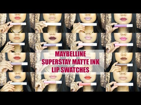 Maybelline Super Stay Matte Ink Lip Swatches On Medium Tan Indian Skin | Daintydashbeauty