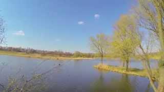 Весенняя ловля судака на пруду джигом на силикон(05.04.2014)