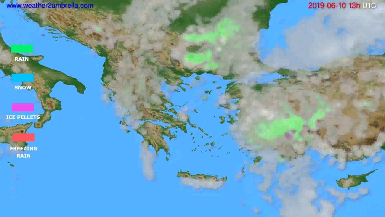 Precipitation forecast Greece // modelrun: 12h UTC 2019-06-08